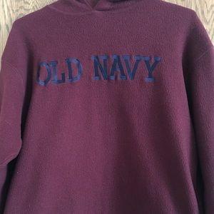 Burgundy and Navy, old navel sweatshirt